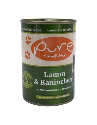 Katzenmenü Lamm & Kaninchen 400g mit Vollkornreis und Tomaten