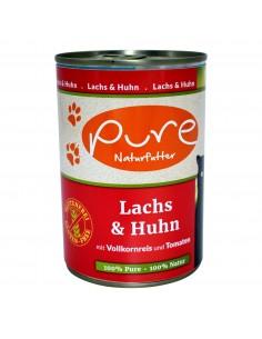 Katzenmenü Lachs & Huhn 400g mit Vollkornreis und Tomaten