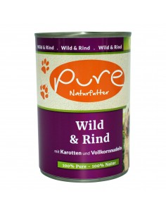 Hundemenü Wild & Rind 400g mit Karotten und Vollkornnudeln