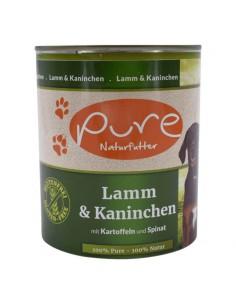 Hundemenü Lamm & Kaninchen 800g mit Kartoffeln und Spinat