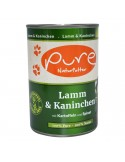 Hundemenü Lamm & Kaninchen 400g mit Kartoffeln und Spinat
