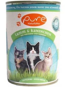 Katzenmenü Lamm & Kaninchen mit Naturreis & Tomate 400 gr.
