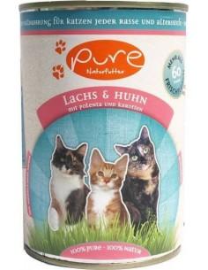 Katzenmenü Lachs & Huhn mit Polenta und Karotten 400 gr.